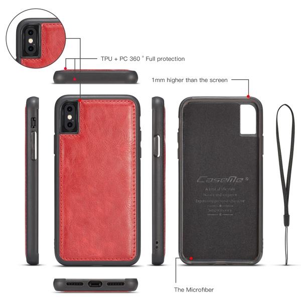 蘋果 iPhoneX iPhone8 Plus iPhone7 Plus iPhone6s Plus 手機皮套 秦系錢包殼 手機殼 磁吸 插卡 掛繩