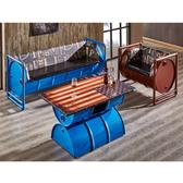 【YFS】馬克仿舊油桶1+3皮沙發組-180x65x73cm