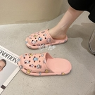 洞洞鞋 可愛包頭半拖鞋女外穿夏季新款室內居家拖鞋防水防滑洞洞拖鞋