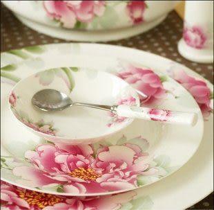 高檔陶瓷餐具優級瓷/56件