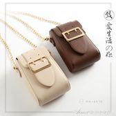 新款韓版手機包女包迷你單肩斜背包零錢包鎖扣鍊條包小包包女艾美時尚衣櫥