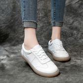 真皮鞋 軟底 森女 防滑 牛筋底 手工鞋 休閒鞋 低跟鞋/2色-標準碼-夢想家-0122