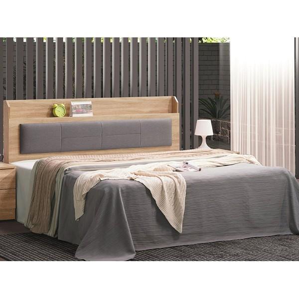 床架 AT-34-9A 鋼刷橡木6尺防貓抓皮雙人床 (床頭+床底)(不含床墊) 【大眾家居舘】