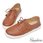 訂製鞋 可後踩柔軟皮革休閒鞋-棕