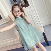 女童夏季連衣裙2018新款兒童公主裙韓版中大童紗裙 LR422【歐爸生活館】