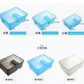 店長推薦烏龜缸小養龜盆帶曬臺魚缸水陸缸水龜草龜巴西龜活體飼養塑料盒箱