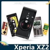 SONY Xperia XZ2 復古偽裝保護套 軟殼 懷舊彩繪 可愛塗鴉 計算機 鍵盤 錄音帶 矽膠套 手機套 手機殼