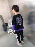 童裝男童長袖t恤秋裝2020新款兒童打底衫上衣假兩件衣服中大童潮【免運】