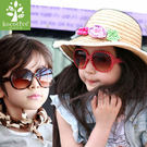 ※現貨 Billgo【K508001】韓國kocotree膠框兒童太陽眼鏡 抗UV400  贈皮革眼鏡盒 紅色