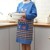 2件裝 廚房長袖圍裙袖套反穿衣成人圍腰罩衣【奈良優品】