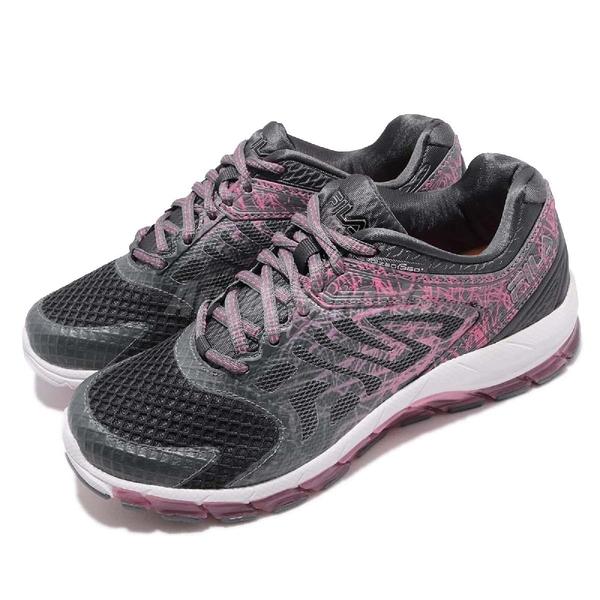 【五折特賣】FILA 慢跑鞋 Complexity 360 Energized 灰 粉紅 動能迴力膠 運動鞋 女鞋【PUMP306】 5J029R070