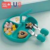 寶寶學吃飯勺子短柄把一歲嬰兒童餐具套裝小寶寶輔食訓練勺叉子 幸福第一站