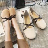 女鞋春季奶奶鞋春款單鞋潮鞋春秋百搭平底豆豆鞋子女  小確幸生活館