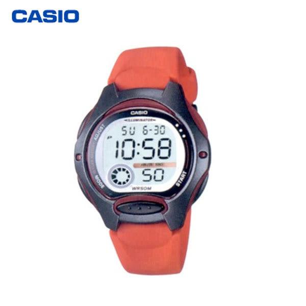 CASIO 數字膠帶電子錶 多功能數位兒童錶 紅 LW-200-4A 學生錶 兒童錶 公司貨保固1年   名人鐘錶