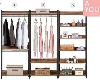 漢諾瓦7.8尺組合衣櫥(大台北地區免運費)【阿玉的家2020】