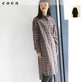 格紋襯衫式 長洋裝 起毛 現貨 免運費 日本品牌【coen】