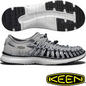 KEEN 1018719鐵灰/深灰 Uneek O2 男戶外護趾編織涼鞋 繩編鞋/水陸兩用鞋/運動健走鞋/沙灘戲水鞋