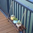 花架 陽台欄桿牆面壁掛式花架室內客廳懸掛置物板庭院花園牆上裝飾木板