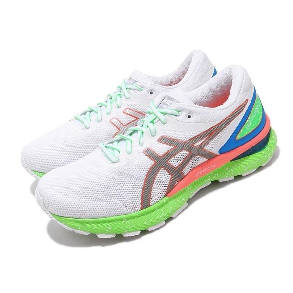 Asics 慢跑鞋 Gel-Nimbus 22 Lite-Show 白 綠 男鞋 運動鞋 【ACS】 1011A890100