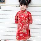 中國風錦緞旗袍-牡丹紅 兒童旗袍 新年 ...