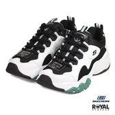 Skechers 新竹皇家 D Lites 3 黑色 網布 厚底5cm 休閒運動鞋 男款 NO.B0156