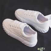 厚底鞋 秋季新品夏款帆布鞋女小白鞋正韓學生百搭白鞋板鞋厚底布鞋【快速出貨】