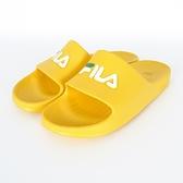 Fila Sleek Slide [4-S355V-991] 拖鞋 男女 運動 休閒 舒適 輕量 防水 黃