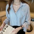 襯衣女秋款2021韓版大碼寬鬆長袖棉麻上衣洋氣設計感小眾女士襯衫 設計師