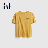 Gap男童 活力亮色透氣短袖T恤 682081-金黃色