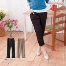 長褲--脫穎而出的品味-鬆緊褲頭寬版壓摺...