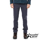 PolarStar 男 防潑保暖多口袋長褲『灰藍』P19421 休閒褲.登山褲.輕量褲.運動褲.保暖褲.吸濕排汗