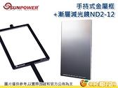SUNPOWER TOP1 方形漸層減光鏡 + 手持式金屬框組 方形濾鏡 插片框架 ND2 - ND12 台灣製 湧蓮公司貨