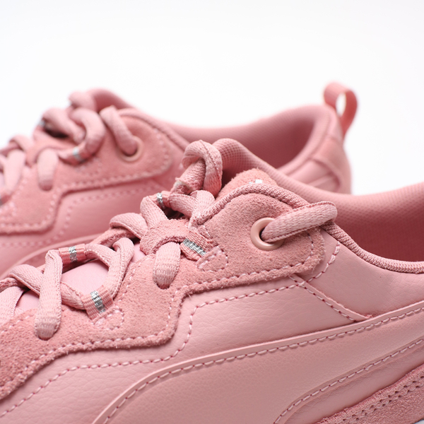 PUMA  Cilia SD 灰底 粉紅 皮革 麂皮 復古 老爹鞋 休閒鞋 女 (布魯克林) 37028304