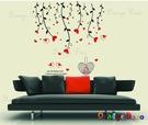 壁貼【橘果設計】愛心小鳥 DIY組合壁貼/牆貼/壁紙/客廳臥室浴室幼稚園室內設計裝潢
