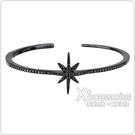 apm MONACO METEORITES NOIRES系列晶鑽鑲飾流星設計純銀開口手環(黑)