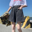 中大碼牛仔短褲 M-4XL 高腰熱褲新款胖mm寬松高腰牛仔短褲女夏1116 R18-A 依品國際