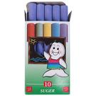 【奇奇文具】吉爾多 精裝紫色 環保彩色粉筆(10支)