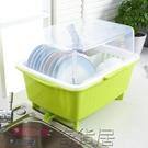 塑料碗柜廚房碗筷瀝水架碗碟架帶蓋加厚碗盤餐具置物架