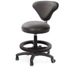 GXG 立體圓凳加椅背 吧檯椅 (塑膠踏圈/防刮輪) 型號81T2 EXK