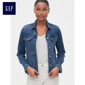 Gap女裝 Jolin明星同款柔軟舒適長袖牛仔夾克 491490-靛藍色