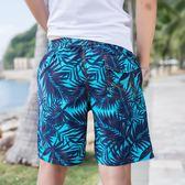 海灘褲 泳褲 印花沙灘褲男士速乾短褲五分褲海邊度假寬鬆溫泉泳褲 免運