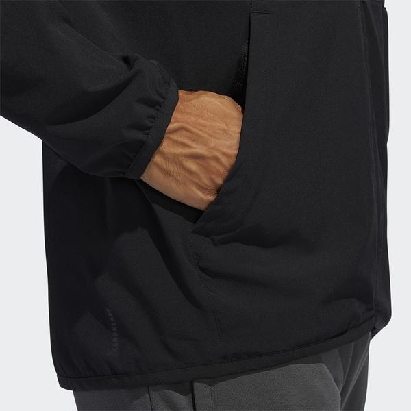 【現貨】Adidas CITY BASE 男裝 外套 連帽 休閒 訓練 拉鍊口袋 彈性 黑【運動世界】FL1507