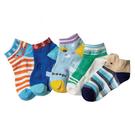 【韓風童品】(5雙/組)男童卡通造形襪子 防滑點膠襪 兒童襪子 嬰幼兒棉質襪 男童短襪子