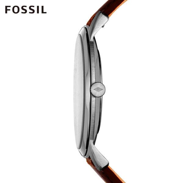 FOSSIL MINIMALIST 簡約輕薄款深棕手錶 男 FS5439