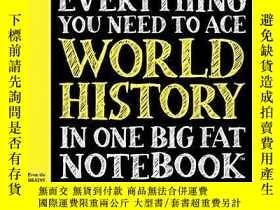 二手書博民逛書店Everything罕見You Need To Ace World History In One Big Fat