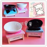 寵物餐具 寵物斗牛碗防滑斜口陶瓷狗碗貓碗食盆餐具 珍妮寶貝