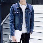 韓版牛仔外套男青少年寬松百搭夾克上衣秋裝新款原宿bf潮流牛仔衣