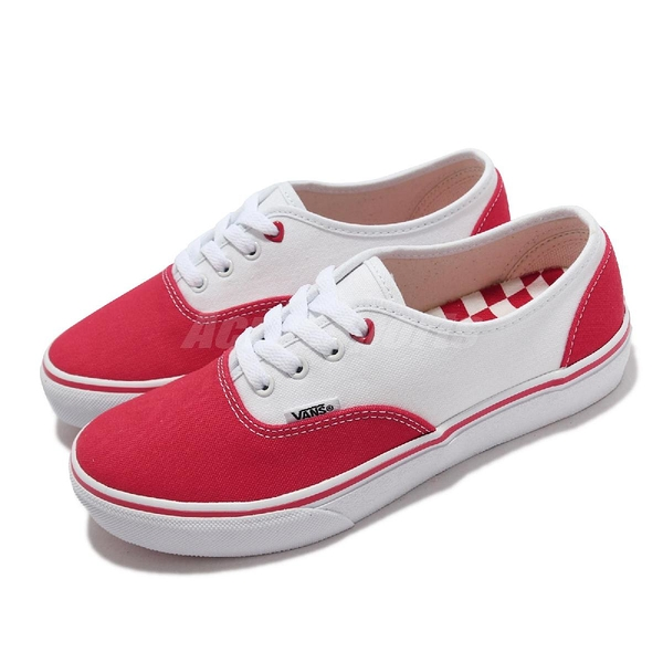 Vans 休閒鞋 V44CF LV Authentic 紅 白 棋盤格 女鞋 【ACS】 6123530001