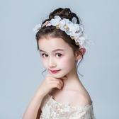 兒童頭飾頭花花環女童發飾韓版公主百搭甜美發箍女孩生日演出飾品