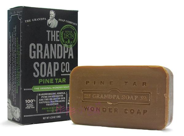 Grandpa s 松焦油香皂 120g 沐浴洗髮 刮鬍多用途香皂 美國原廠進口【彤彤小舖】